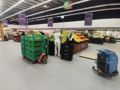 Vloer groenteafdeling supermarkt-BoFloor