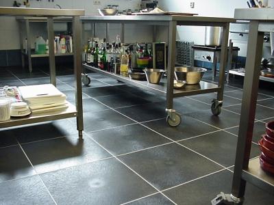 Antirutsch Großküchenboden